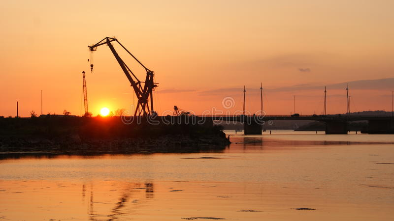 Sun sea harbour royalty free stock images