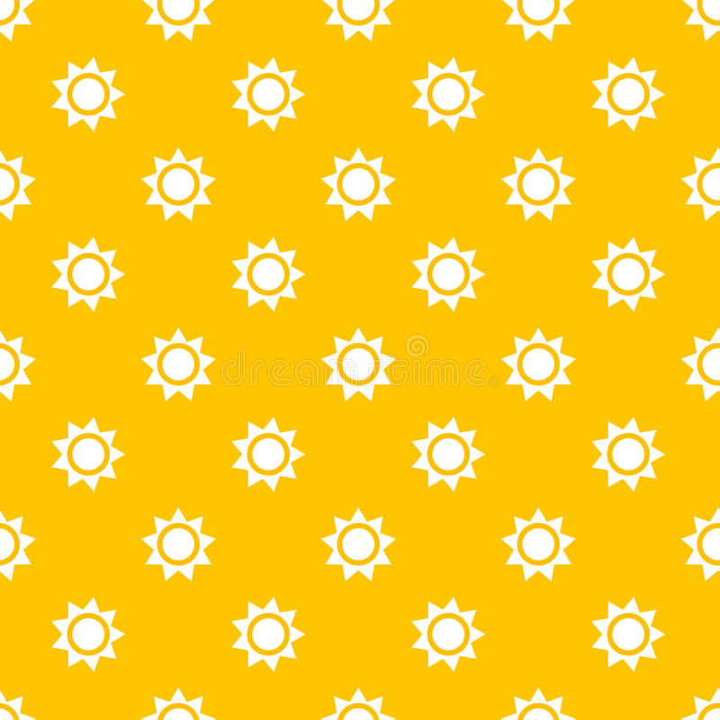 Sun seamless pattern stock illustration