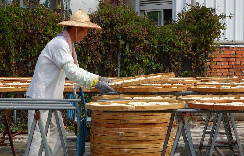 Sun secou macarronetes em Taiwan imagem de stock