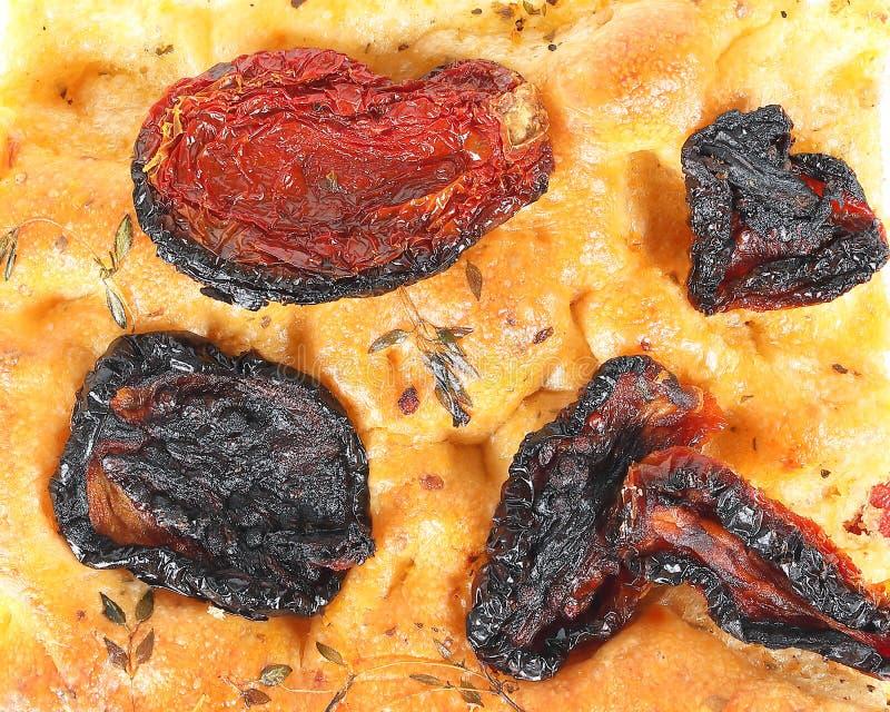 Sun secou o tomate Focaccia foto de stock royalty free