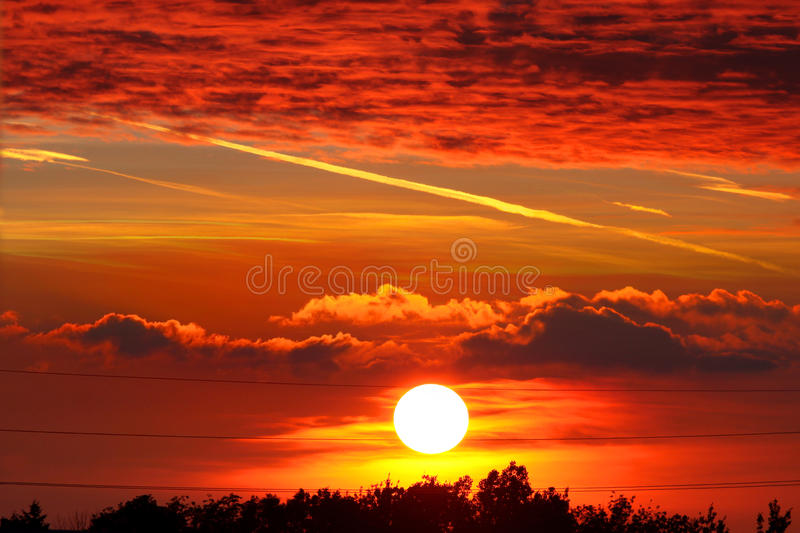 Sun set royalty free stock photo