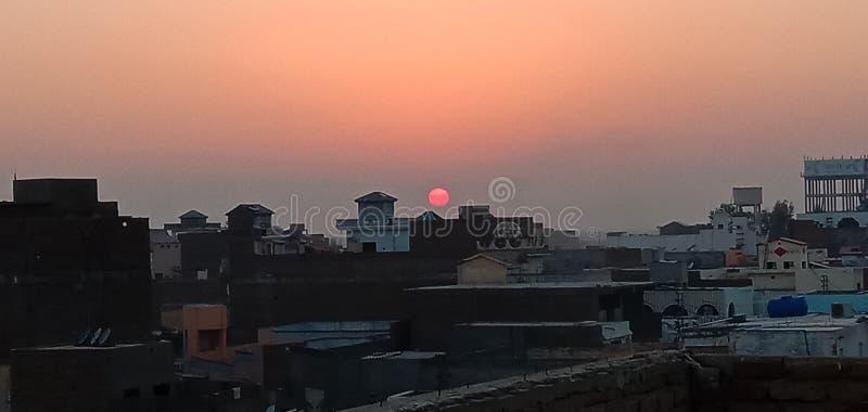 Sun set royalty free stock image