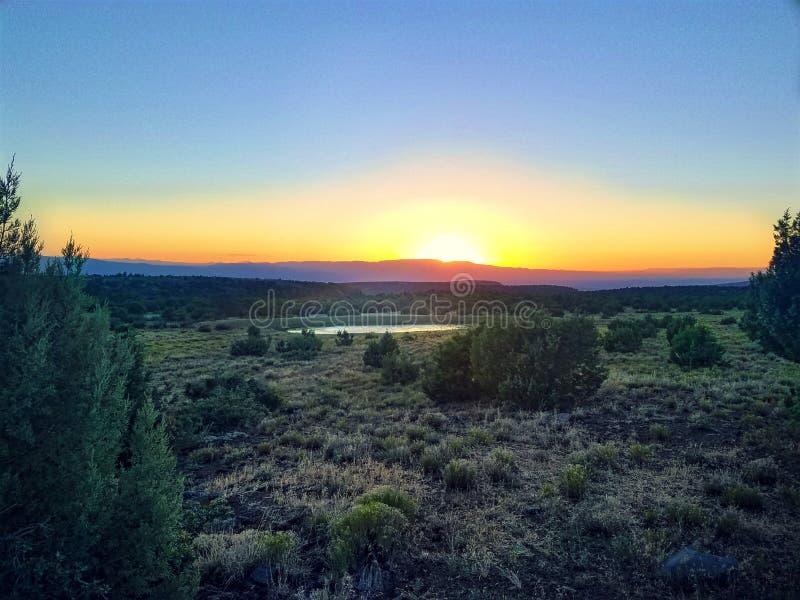 Sun set Camp Verde stock image