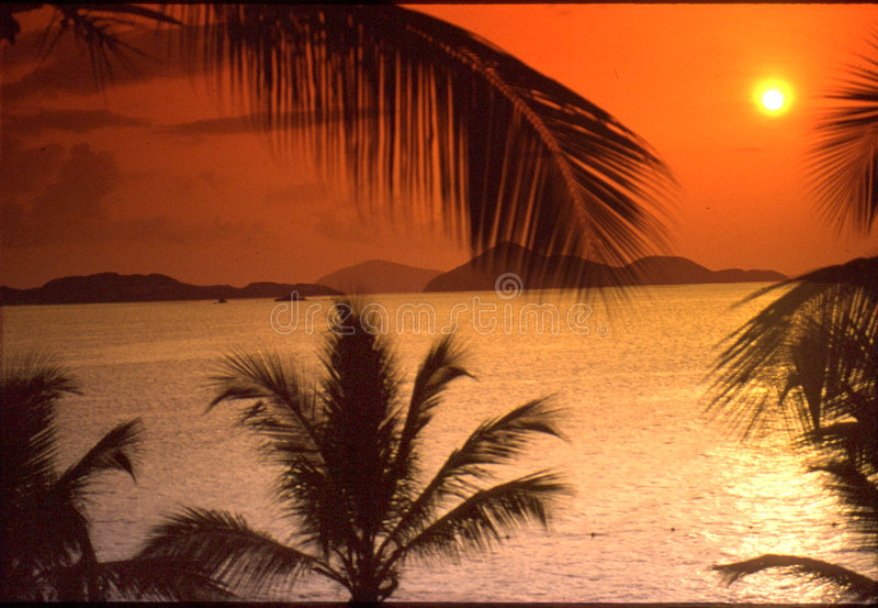 Sun-Set der Jungferninsel stockfotografie