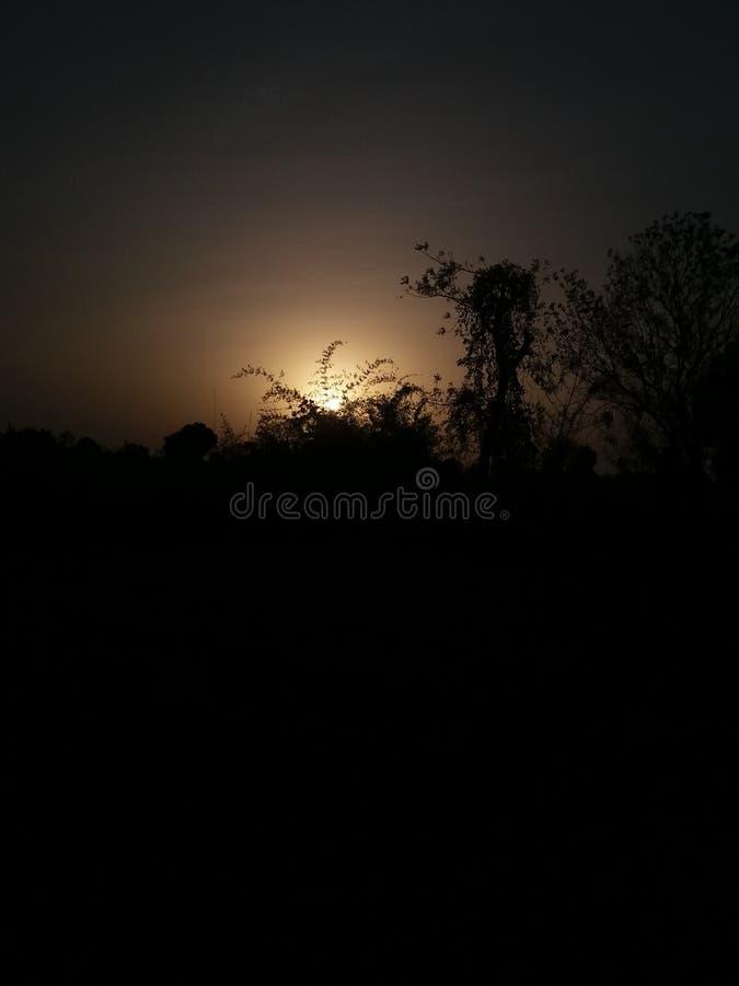Sun set no filters royalty free stock photos