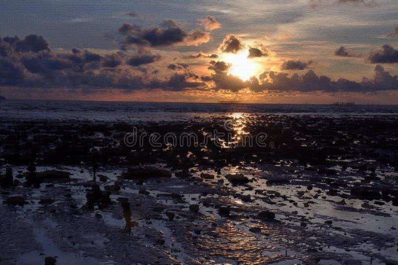 Sun set stock images