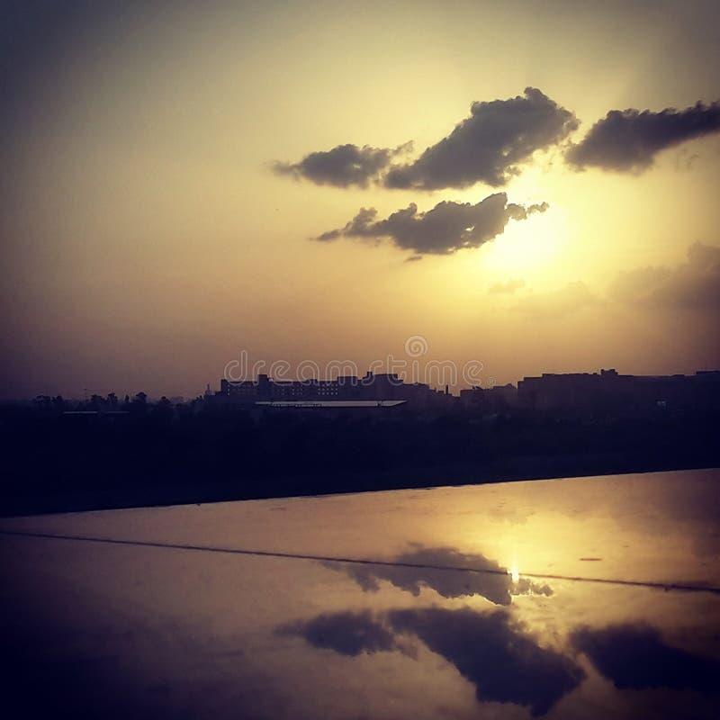 Sun reflection stock photos
