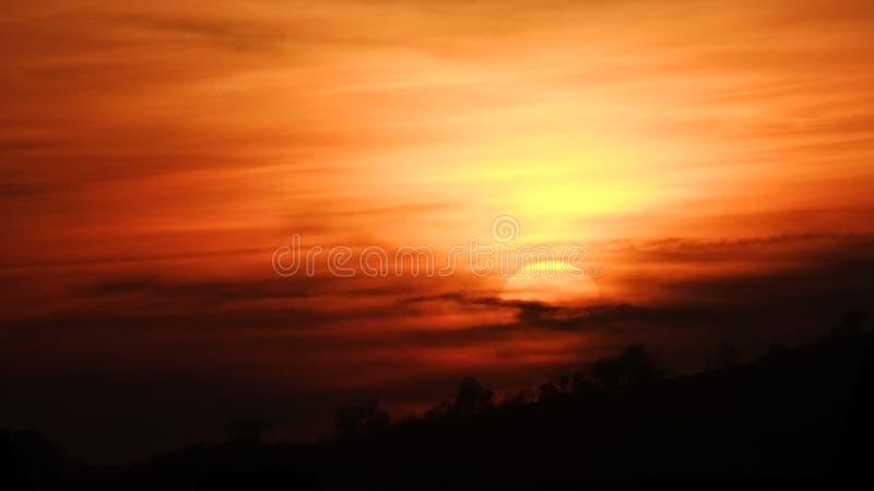 Sun set sabden royalty free stock photos