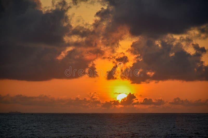 Sun set in Sri Lanka royalty free stock photo
