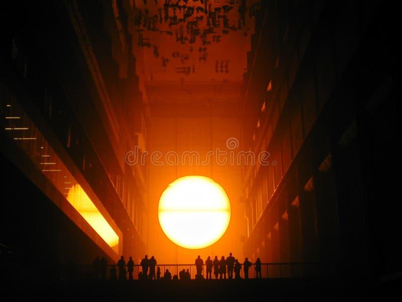 Sun set at the Tate Modern 2 stock photos