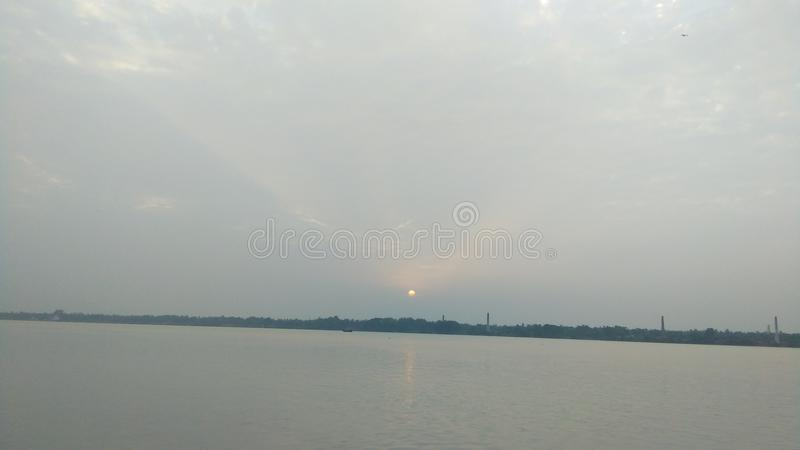 Sun set time. First time image royalty free stock photo
