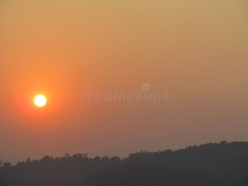 Sun sets royalty free stock photo