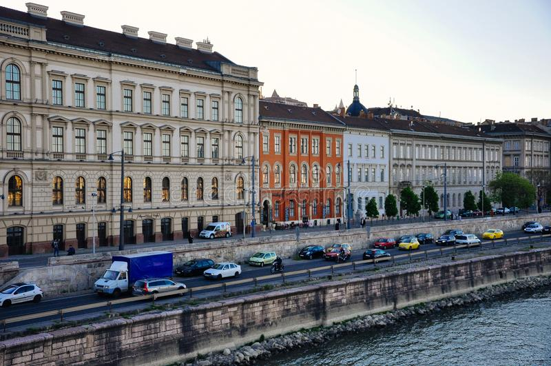 Beautiful heritage buildings in Budapest, Hungary. stock photos