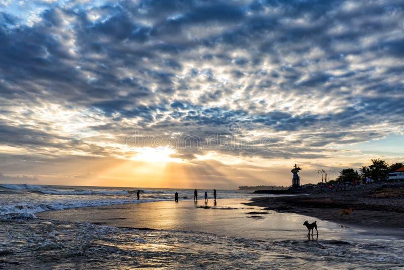 Canggu Beach Sunset stock photography