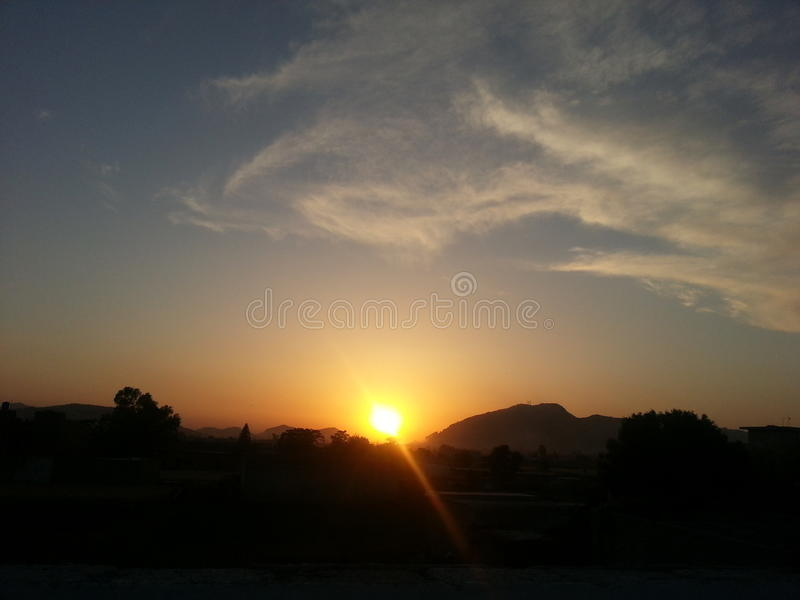 Sun Setting royalty free stock photography
