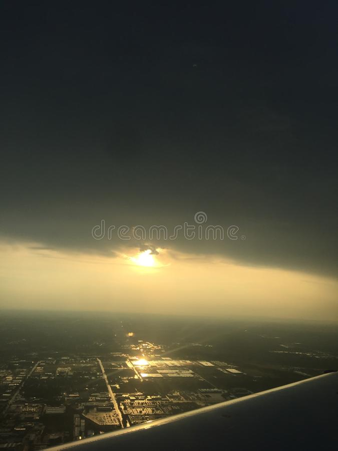 The sun setting over Texas royalty free stock photos