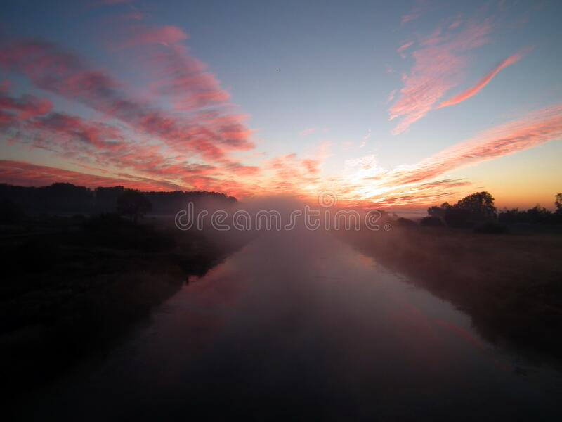 Sun Setting Over White Clouds Free Public Domain Cc0 Image