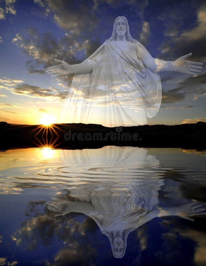 Free Sun Setting With Jesus Stock Photo - 24794320