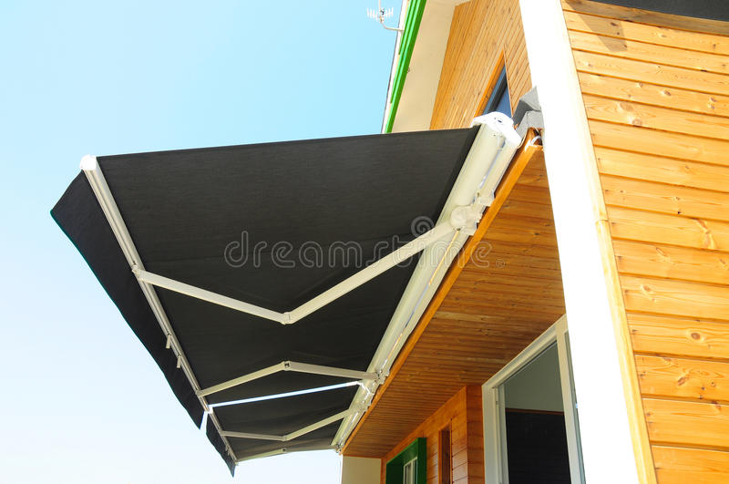 Sun Shade Curtains - Sun Protection. Sheer Curtains, Solar Shades Are Popular Window. Shades, Blinds, Curtains royalty free stock image