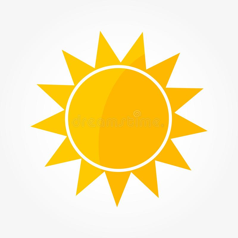 Sun with shade icon.. Vector illustration, element for design vector illustration