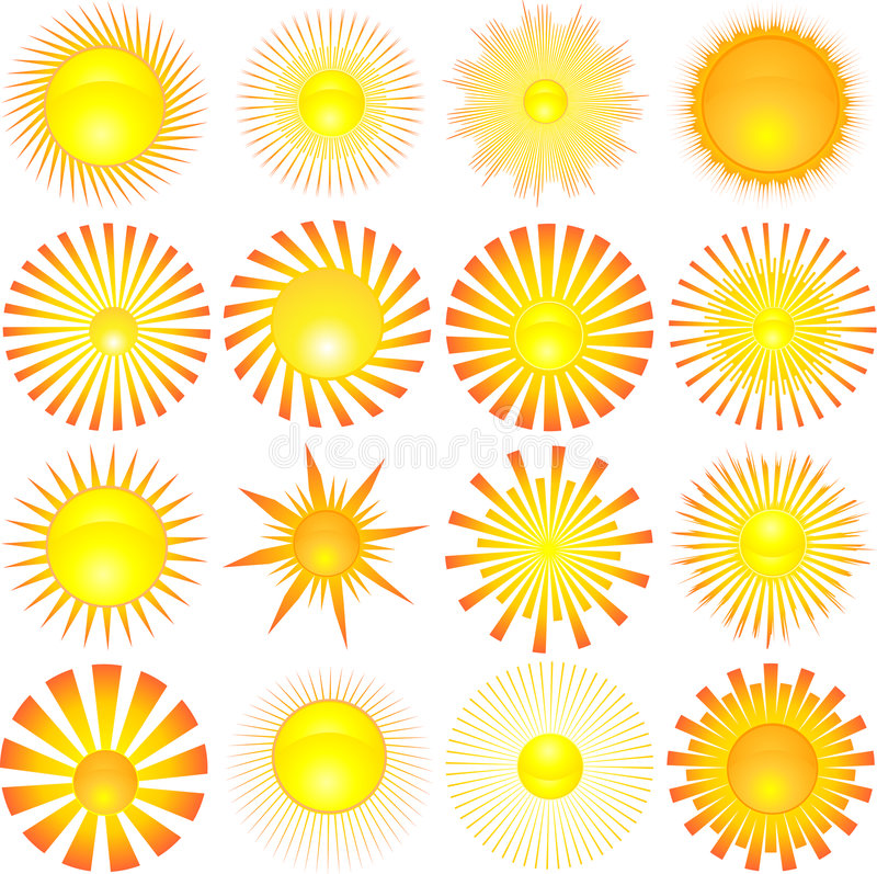 Free Sun Shapes Stock Image - 5063241