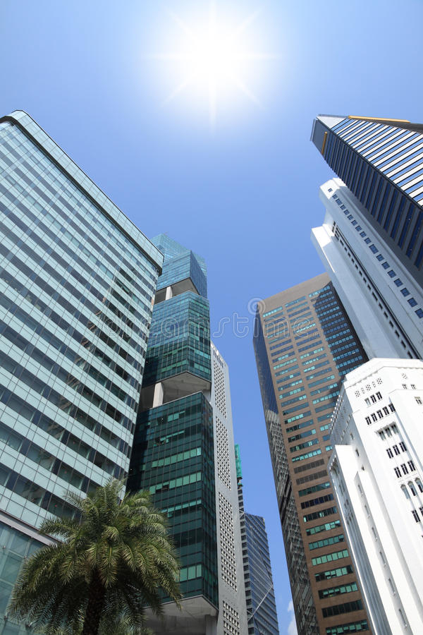 Download Sun shine above building stock image. Image of bright - 22382813