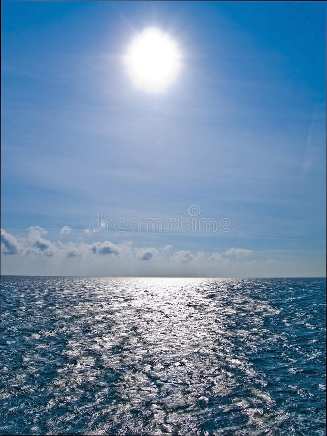 Free Sun Shine On The Horisont Sea Royalty Free Stock Image - 12624696