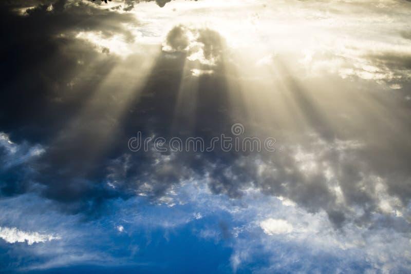 Download Sun Shining Through Dense Clouds Stock Image - Image: 7046445