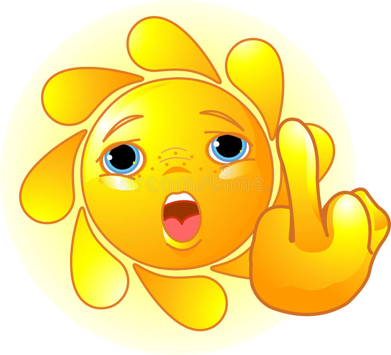 Download Sun Shows A Middle Finger Royalty Free Stock Image - Image: 14075986