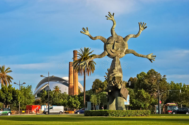 Sun-Skulptur in Valencia lizenzfreie stockfotografie