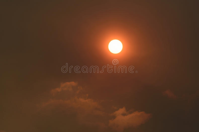 Sun and smoke royalty free stock images