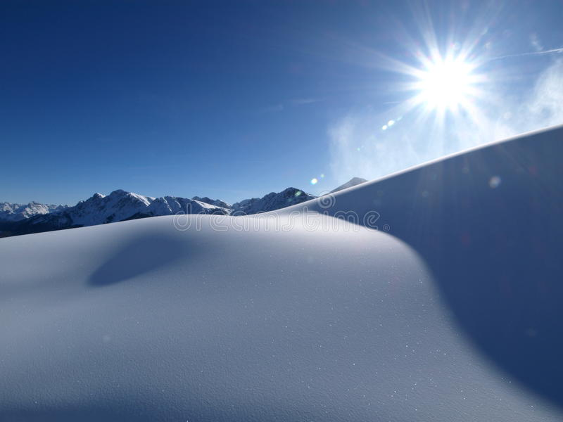 Download Sun & snow stock image. Image of mountain, blue, snow - 12618853