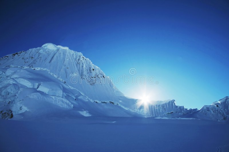 Sun and snow royalty free stock photography