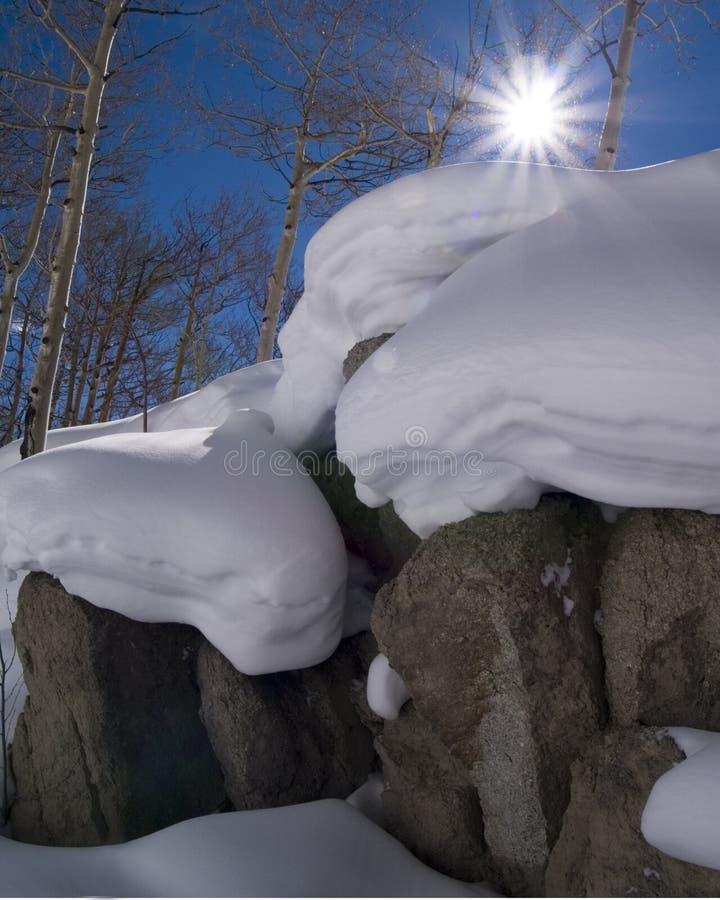 Free Sun, Snow, And Colorado Rocky Mountains Stock Photos - 4154083
