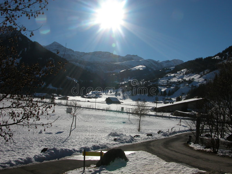Download Sun And Snow In Lenk, Switzerland Royalty Free Stock Photos - Image: 1418298