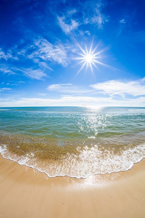 Sun sobre el Golfo de México foto de archivo libre de regalías