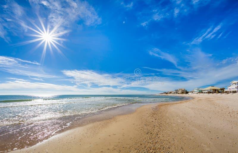 Sun sobre el Golfo de México fotos de archivo libres de regalías