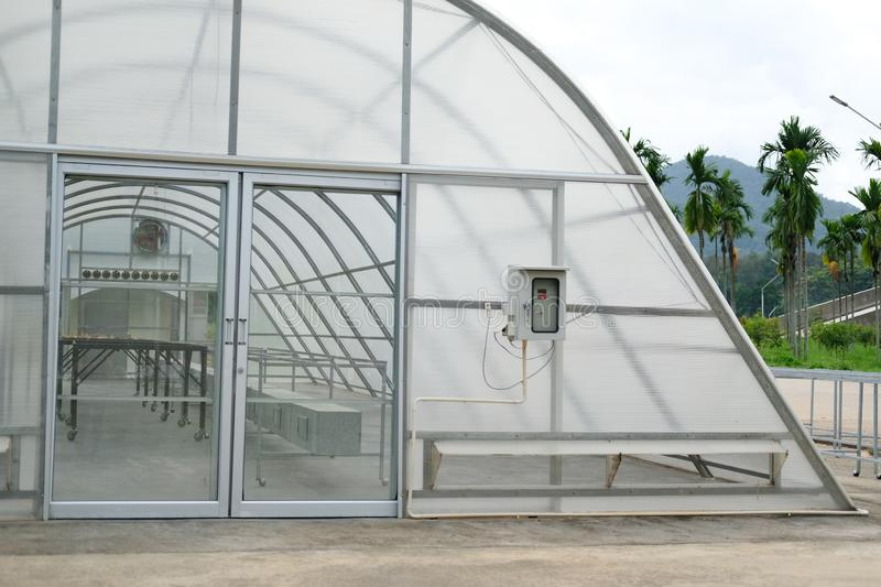 Sun solar dryer greenhouse for drying food by sunlight royalty free stock photos