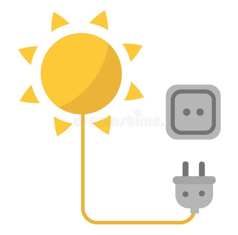Sun-Solarenergievektor vektor abbildung