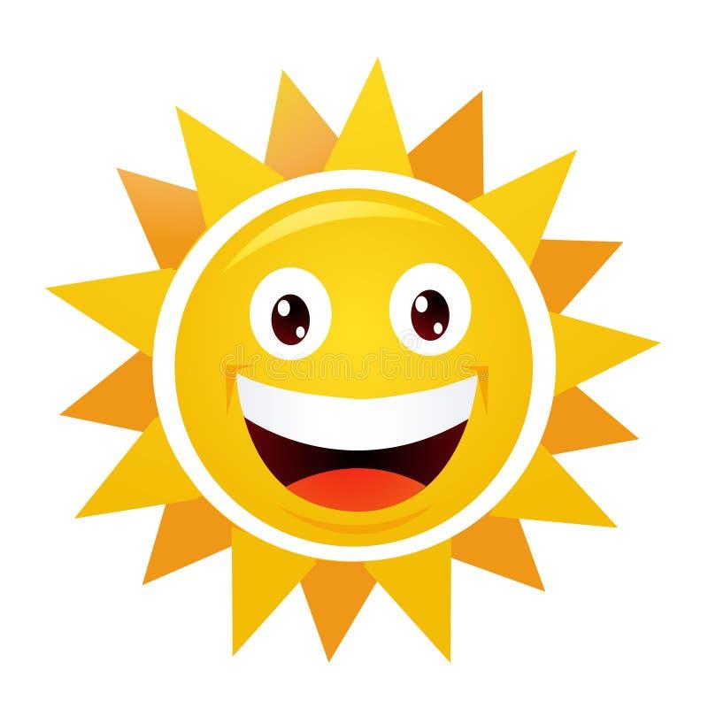 Sun sonriente ilustración del vector