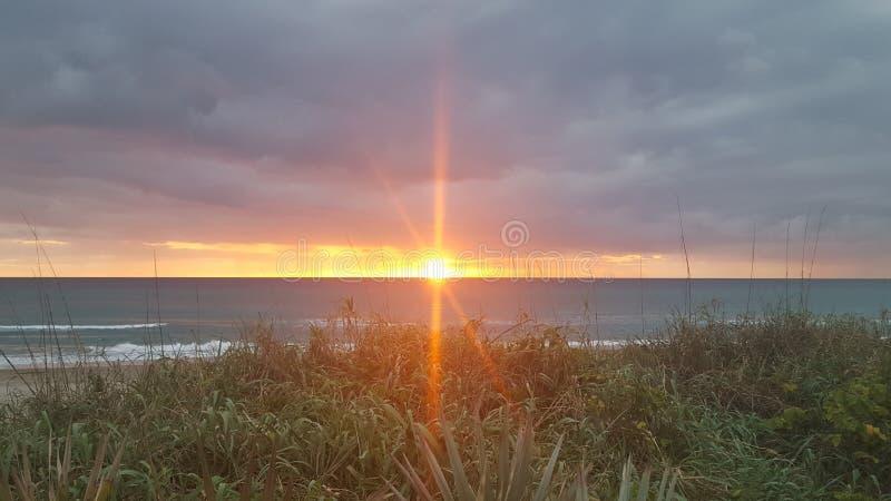 Sun sopra il golfo del Messico fotografia stock libera da diritti