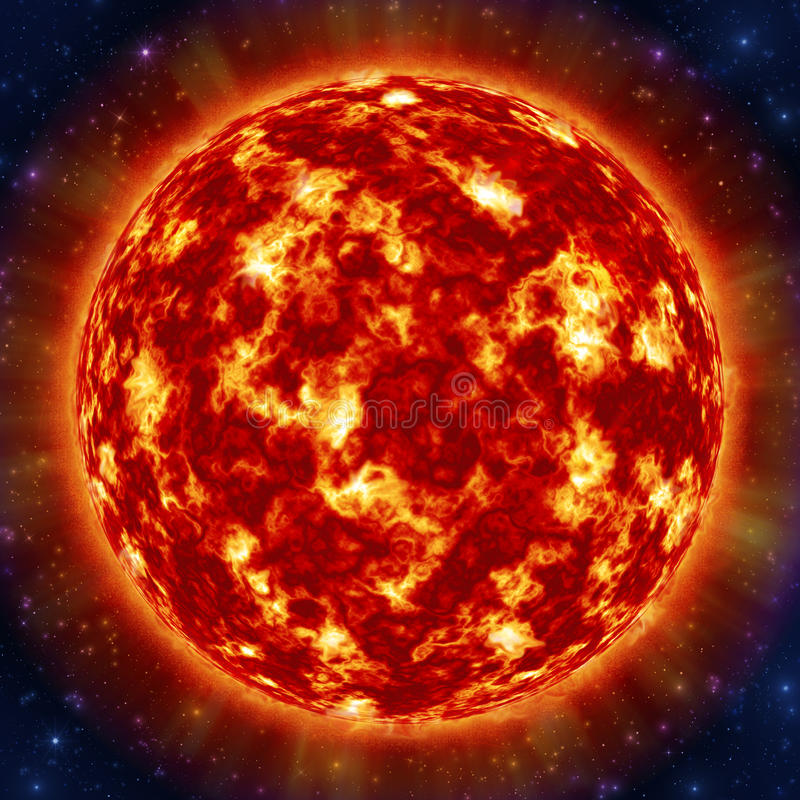 Sun in space stock photos