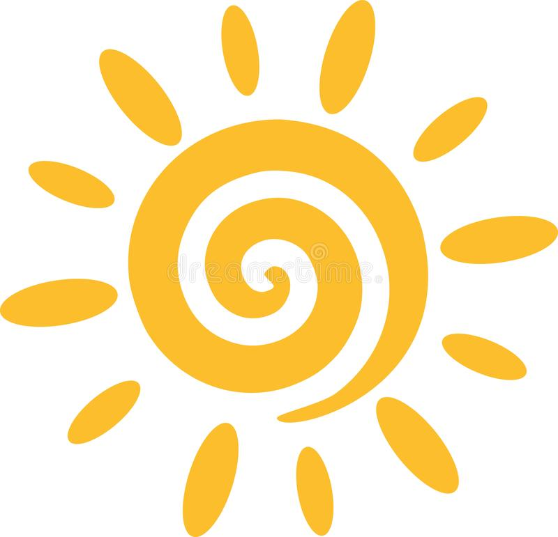 Sun with spiral vector illustration