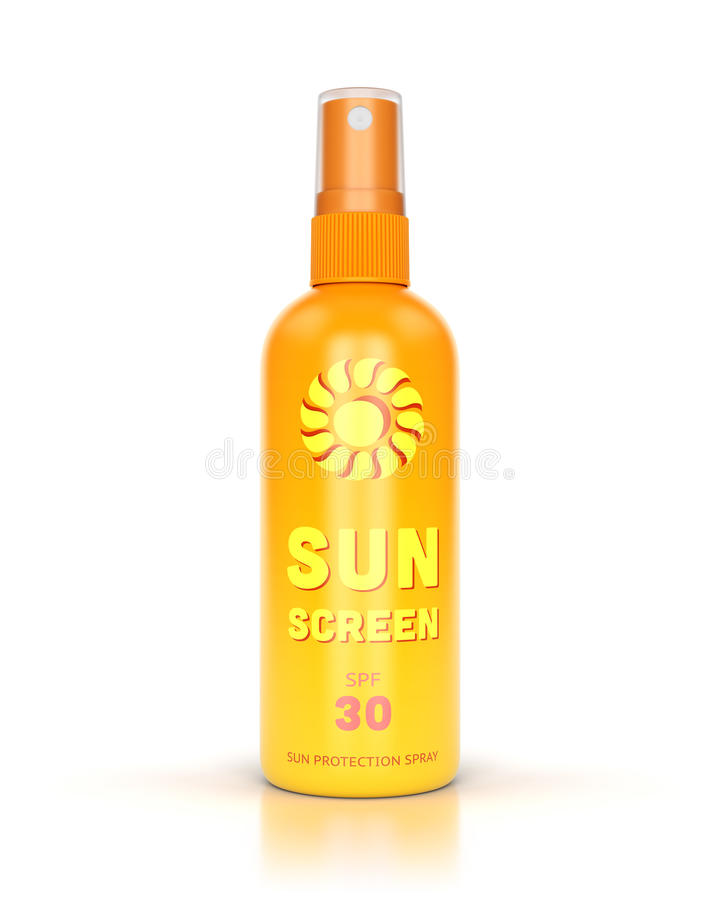 Sun spray isolated on white stock photography