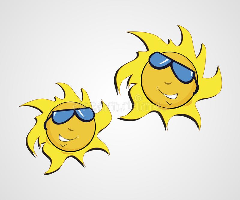 Sun logo vector design stock illustration