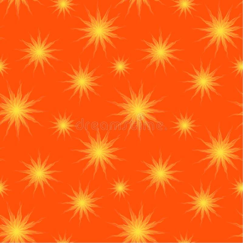 Sun stars el fondo inconsútil stock de ilustración