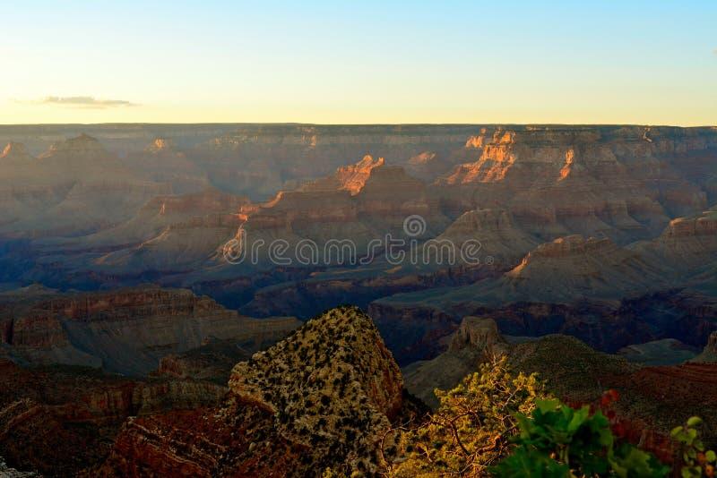 Sun stellte in Grand Canyon ein lizenzfreies stockfoto