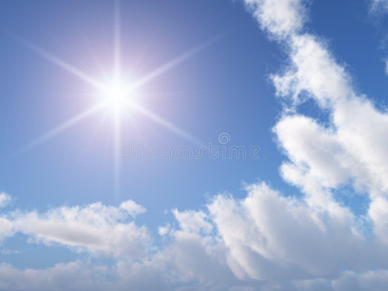 Sun-Stern-Himmel stock abbildung