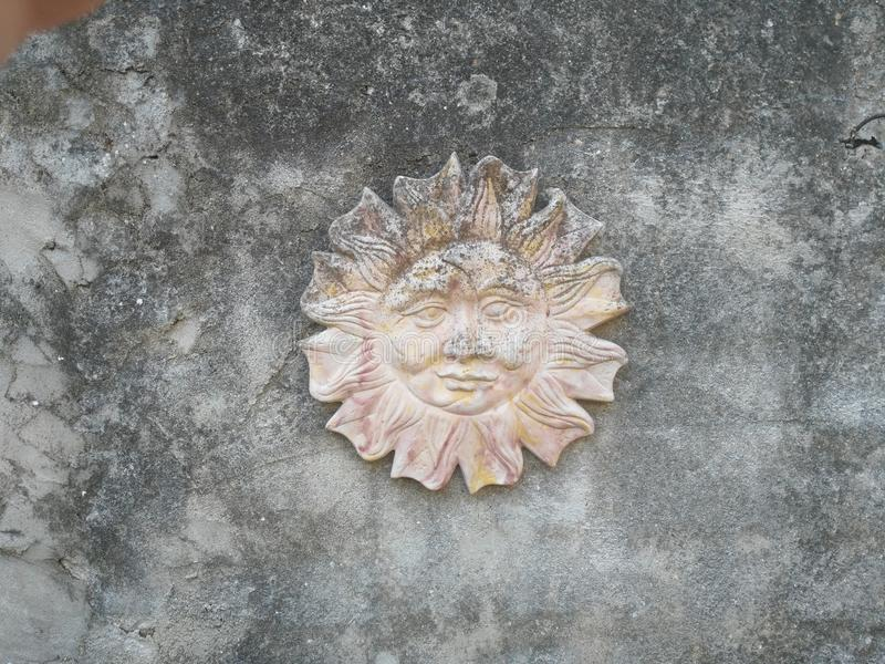 Sun in stone royalty free stock photography