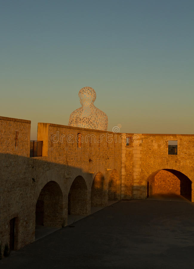 Download Sun in the stone wall stock photo. Image of yellow, statue - 37850508